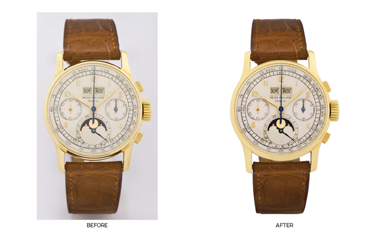 Photo Retouch - Luxury watches for an auction catalogue